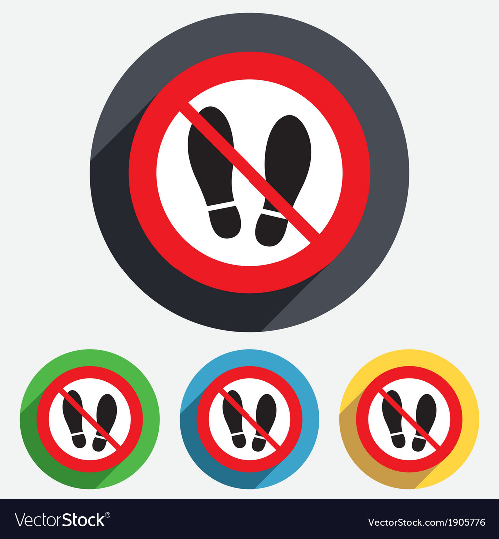 Do not stay imprint shoes sign icon shoe print vector | Price: 1 Credit (USD $1)