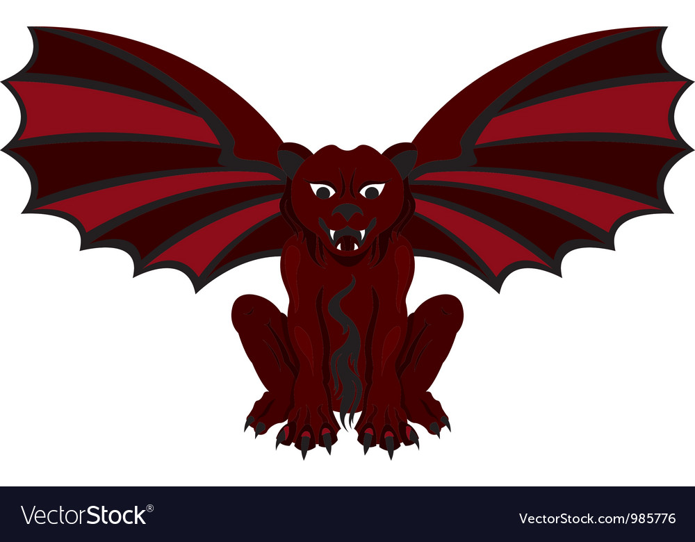 Gargoyle red vector | Price: 1 Credit (USD $1)