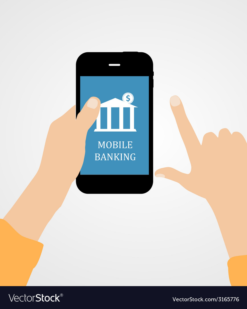 Mobile bank concept vector   Price: 1 Credit (USD $1)