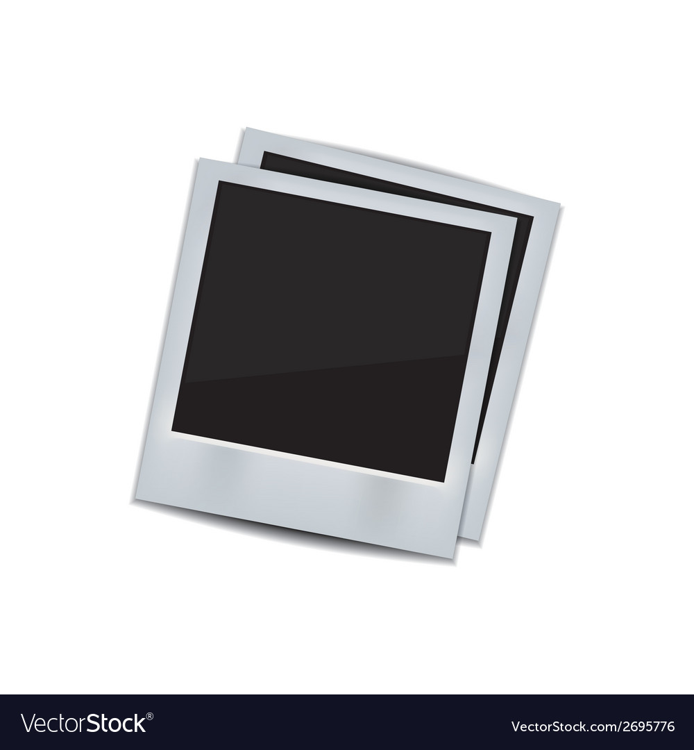 Photo frame on white background vector | Price: 1 Credit (USD $1)