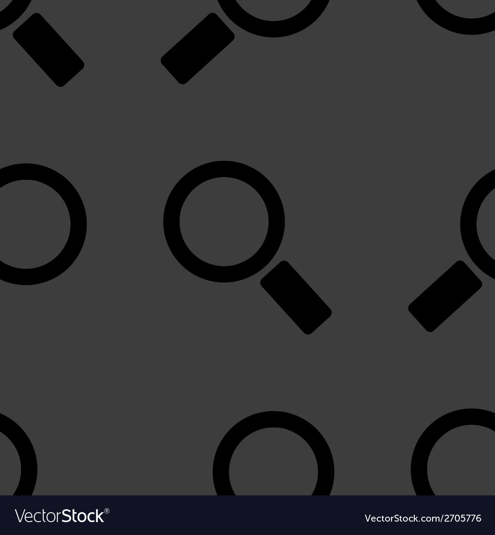 Search magnifier web icon flat design seamless vector | Price: 1 Credit (USD $1)
