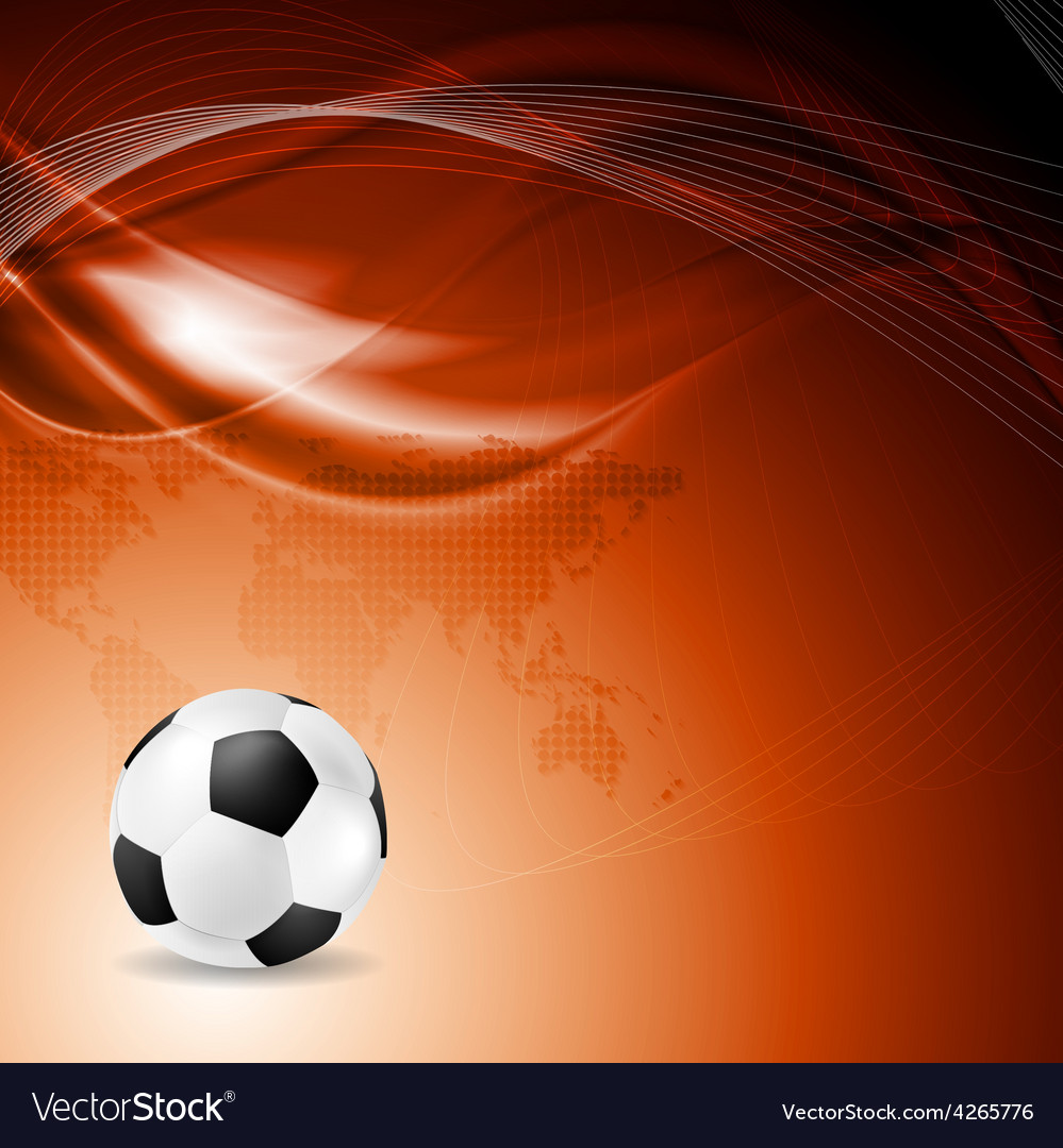 Soccer bright background with abstract waves vector | Price: 1 Credit (USD $1)