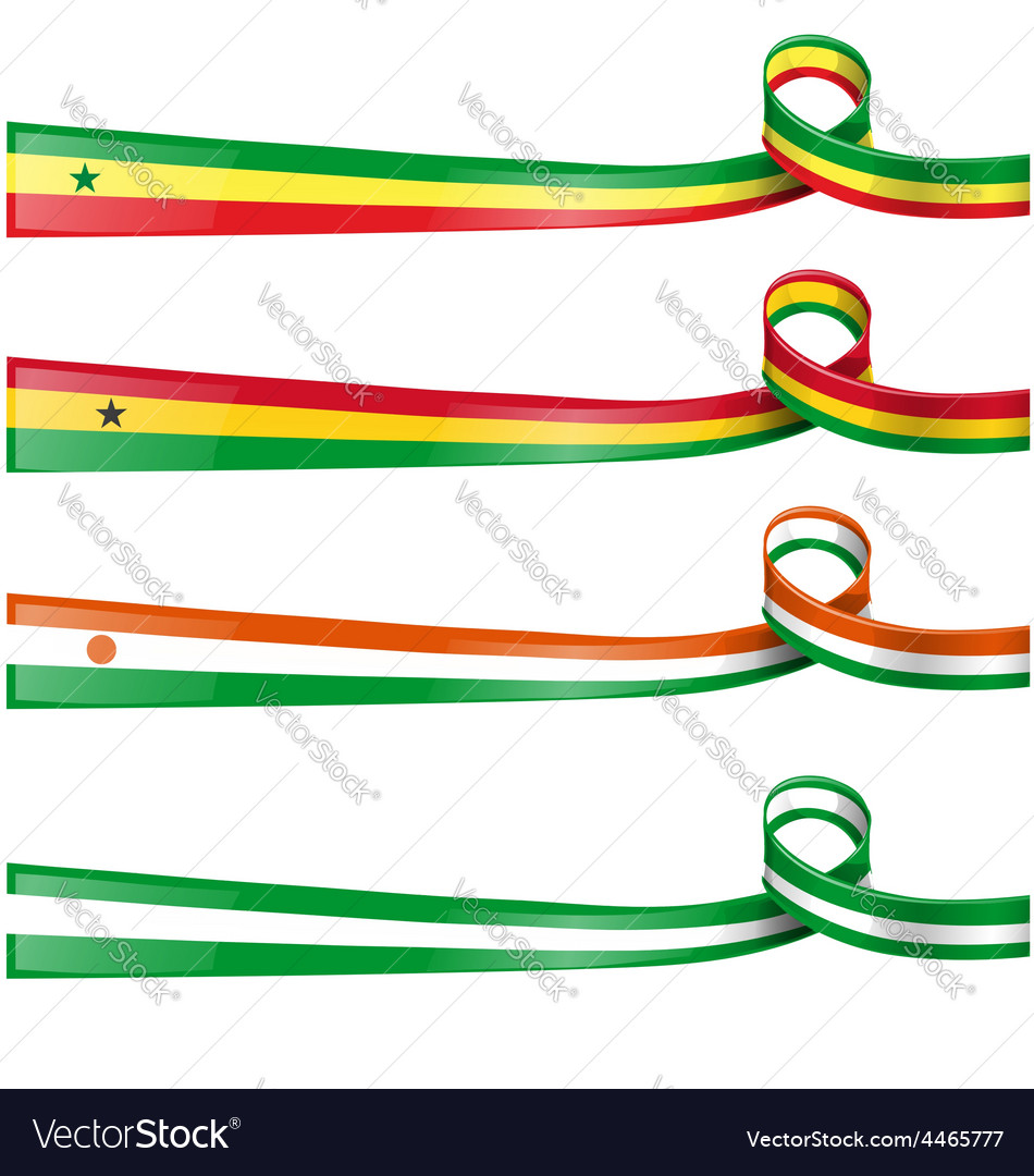 Africa flag set vector | Price: 1 Credit (USD $1)