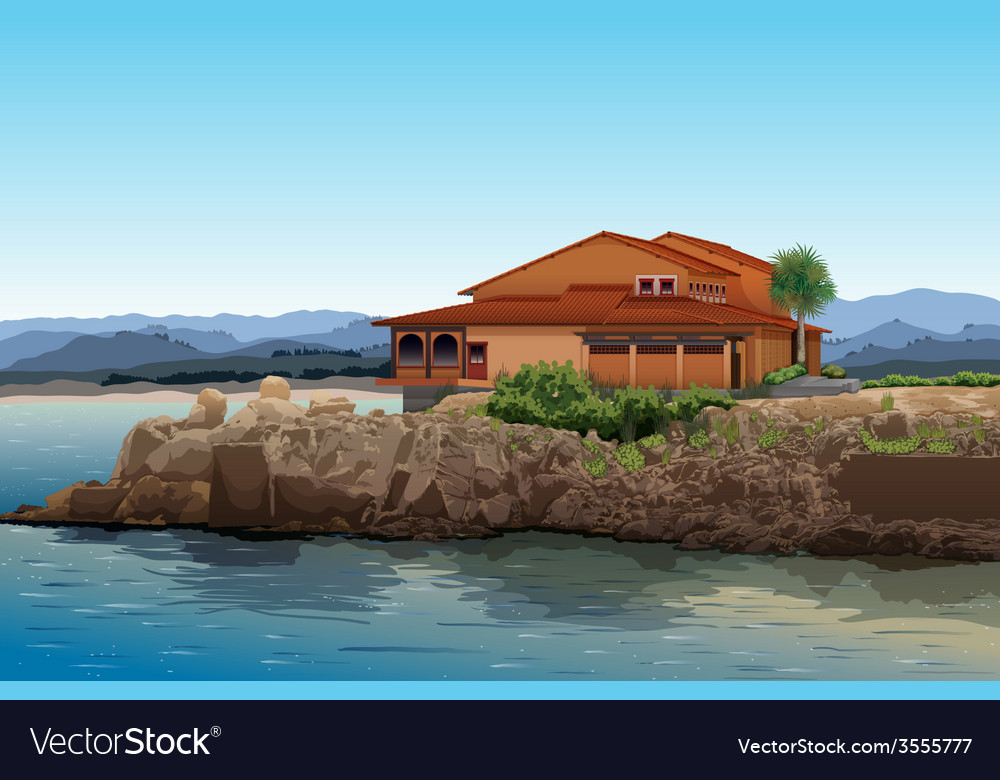 Beach house vector | Price: 3 Credit (USD $3)