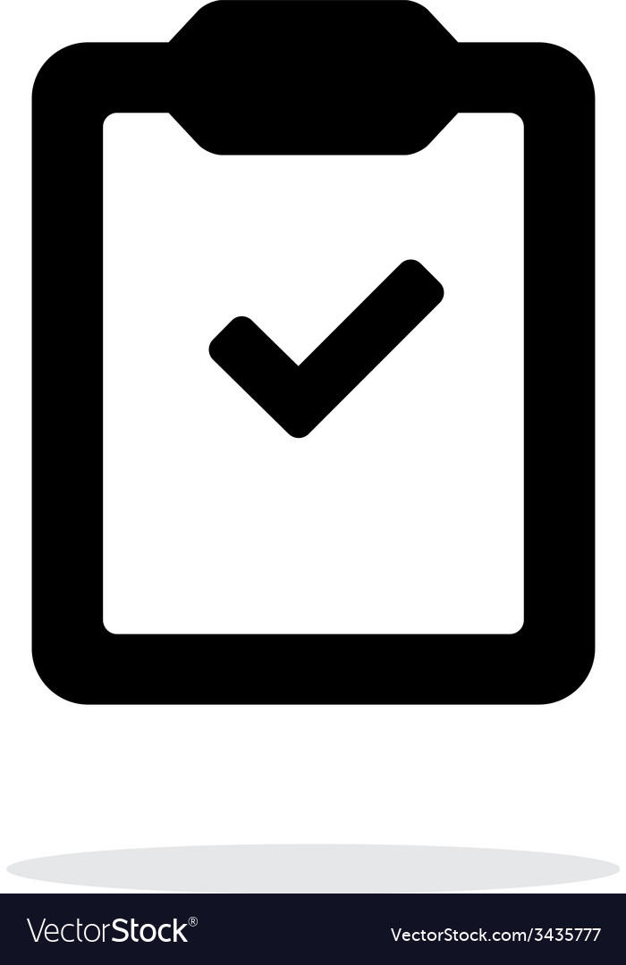 Check clipboard simple icon on white background vector | Price: 1 Credit (USD $1)