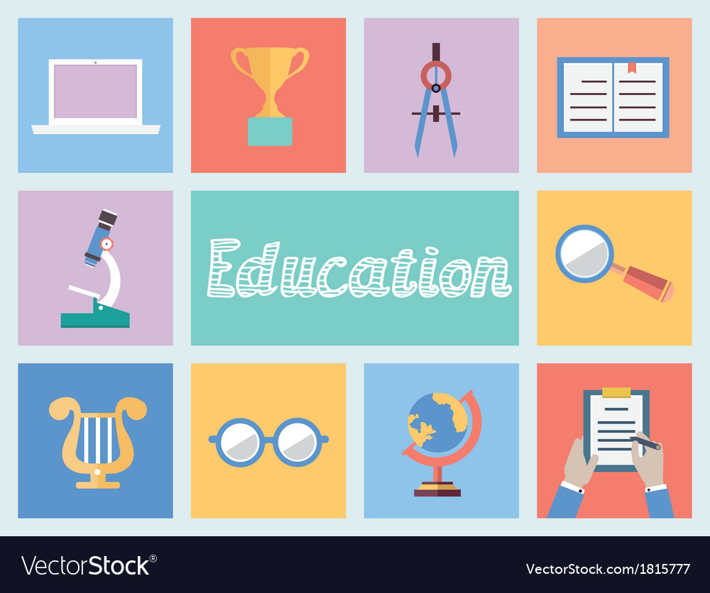 Concept of education flat style design vector | Price: 1 Credit (USD $1)