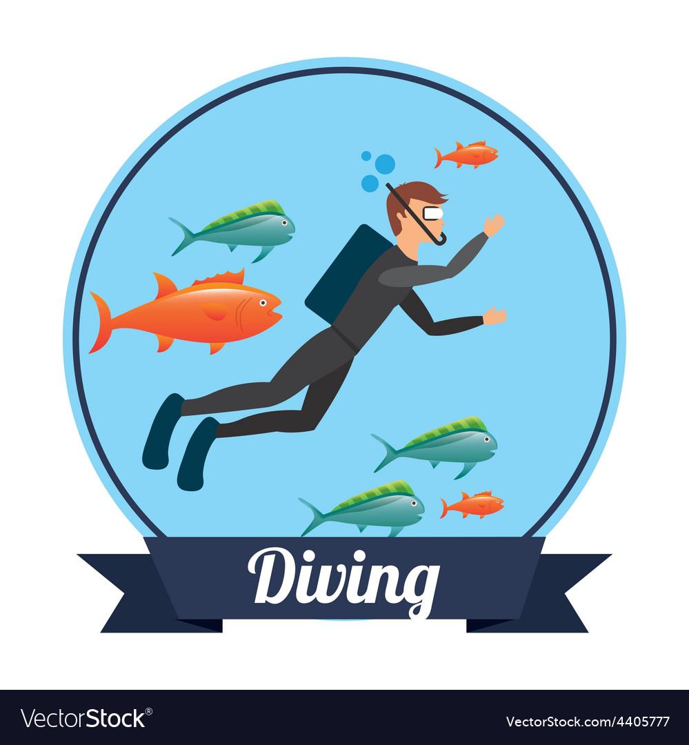 Diving sport vector | Price: 1 Credit (USD $1)