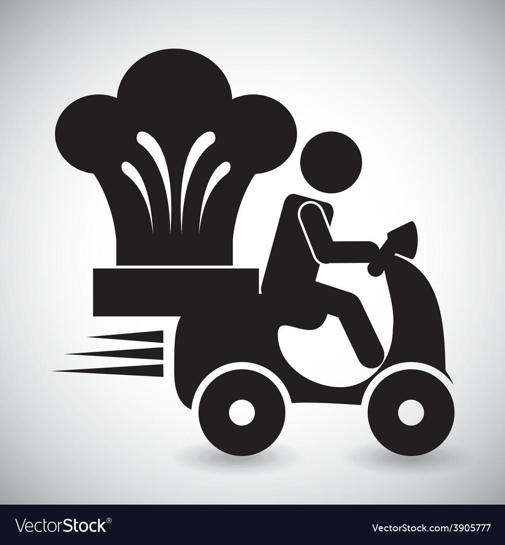 Food delivery design vector | Price: 1 Credit (USD $1)