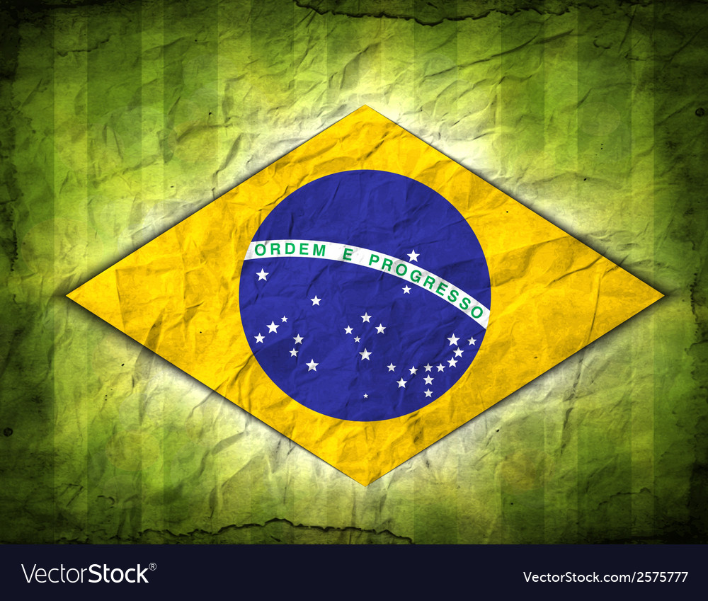 Football card in brazil flag colors vector   Price: 1 Credit (USD $1)