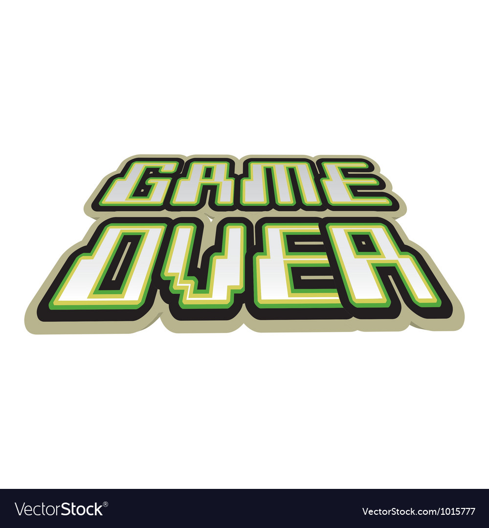 Game over sign vector | Price: 1 Credit (USD $1)