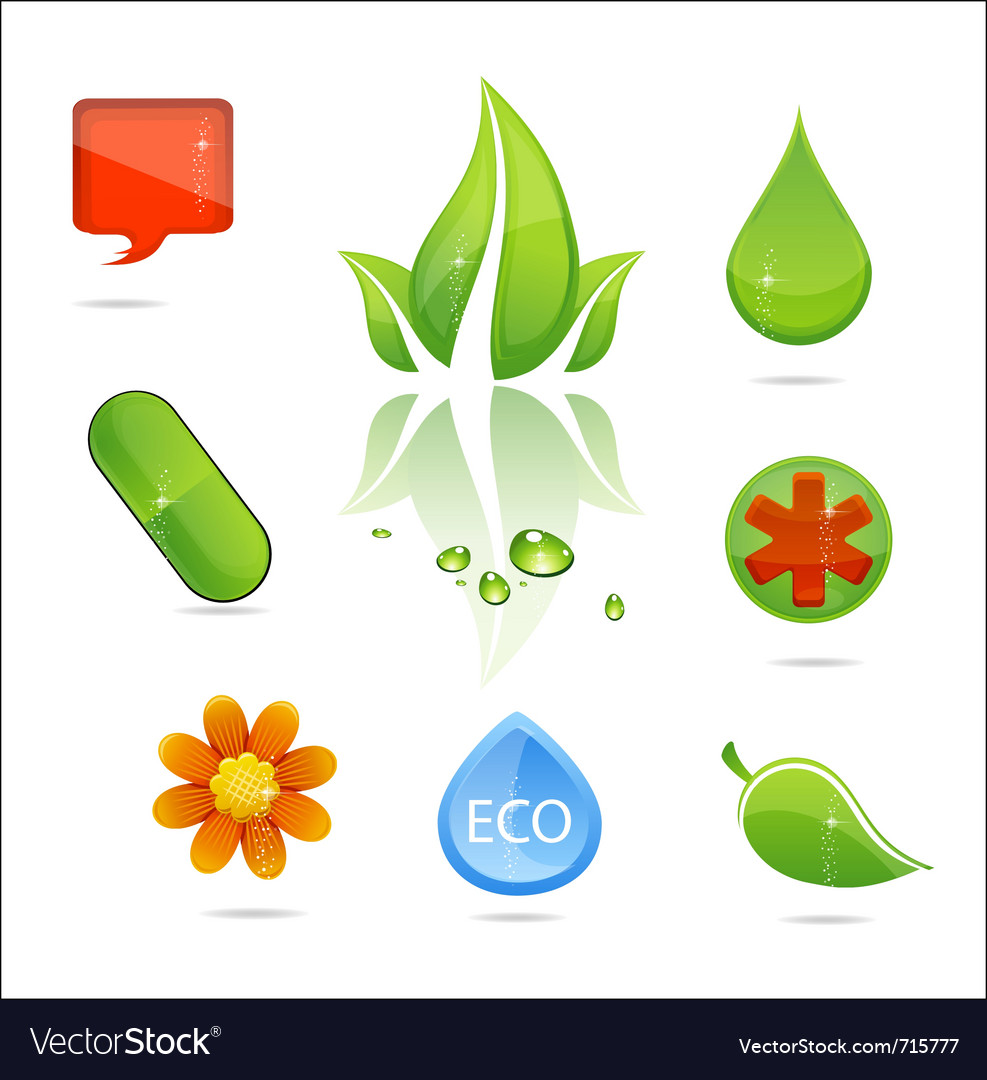 Medic and nature signs vector | Price: 1 Credit (USD $1)
