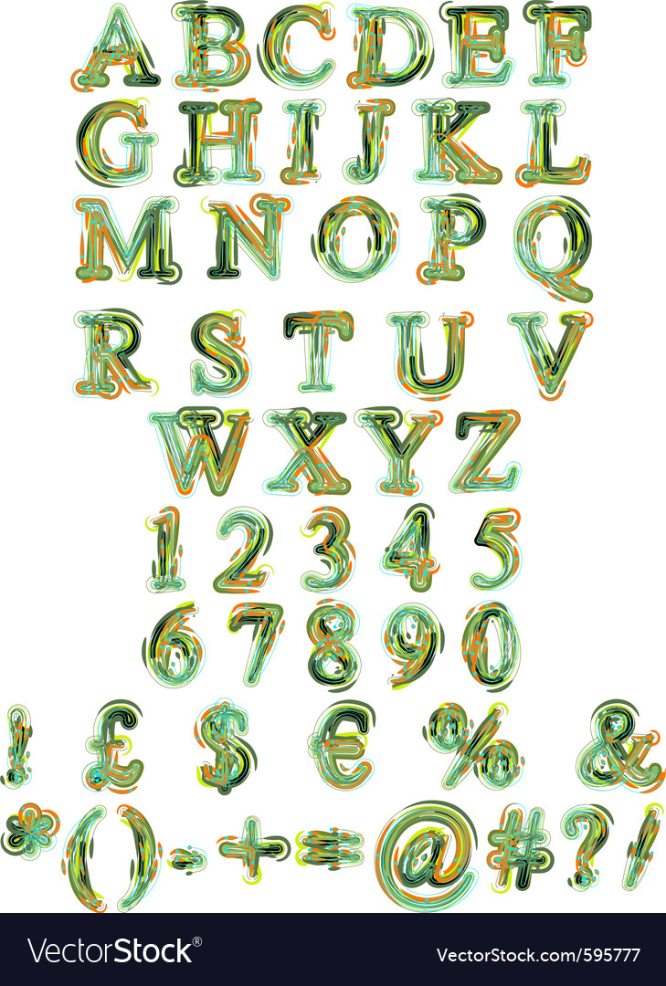 Organic alphabet vector | Price: 1 Credit (USD $1)