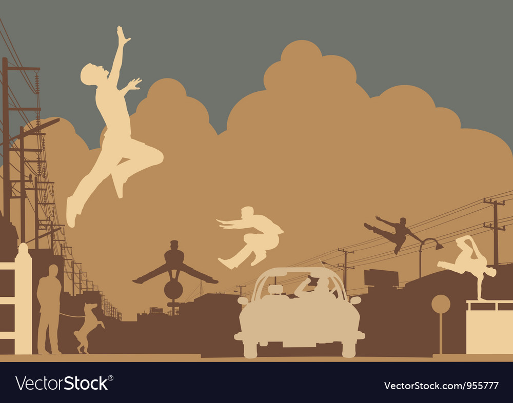 Parkour color vector | Price: 1 Credit (USD $1)