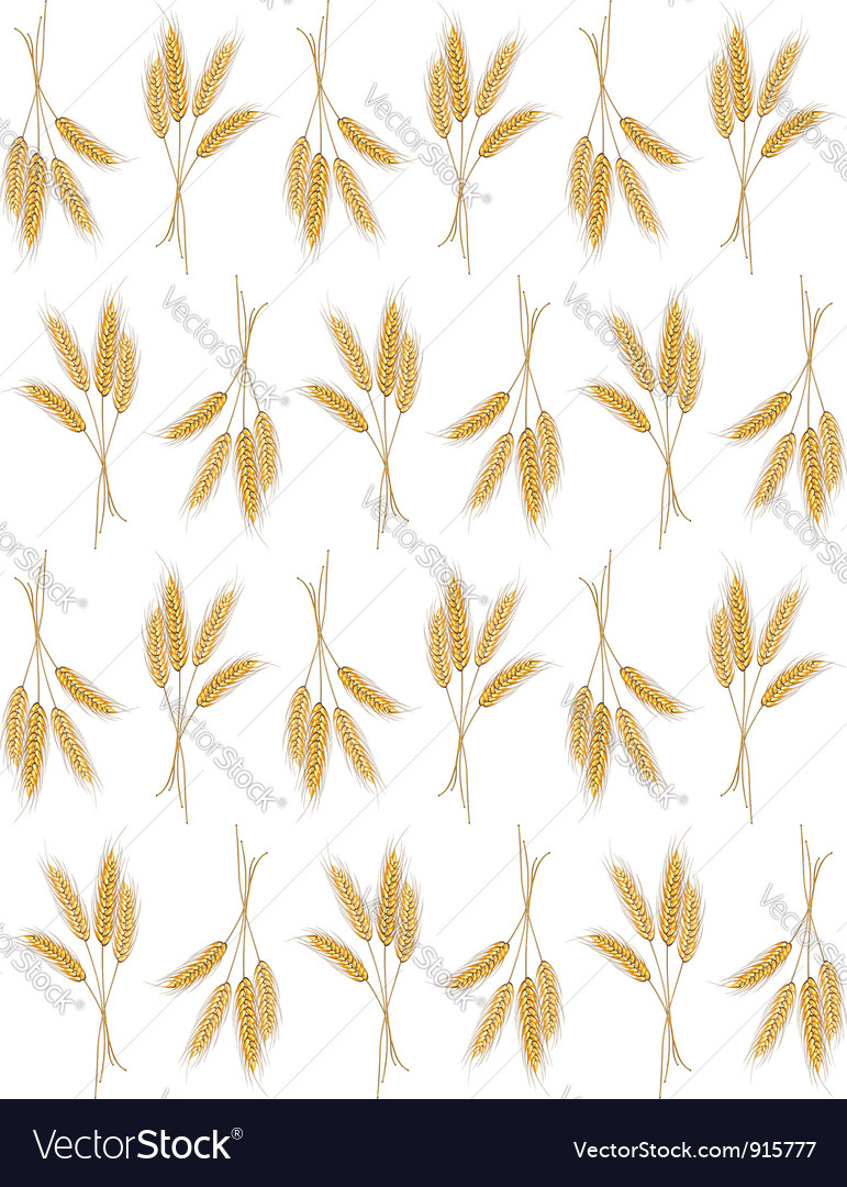 Seamless background with wheat ears vector | Price: 1 Credit (USD $1)