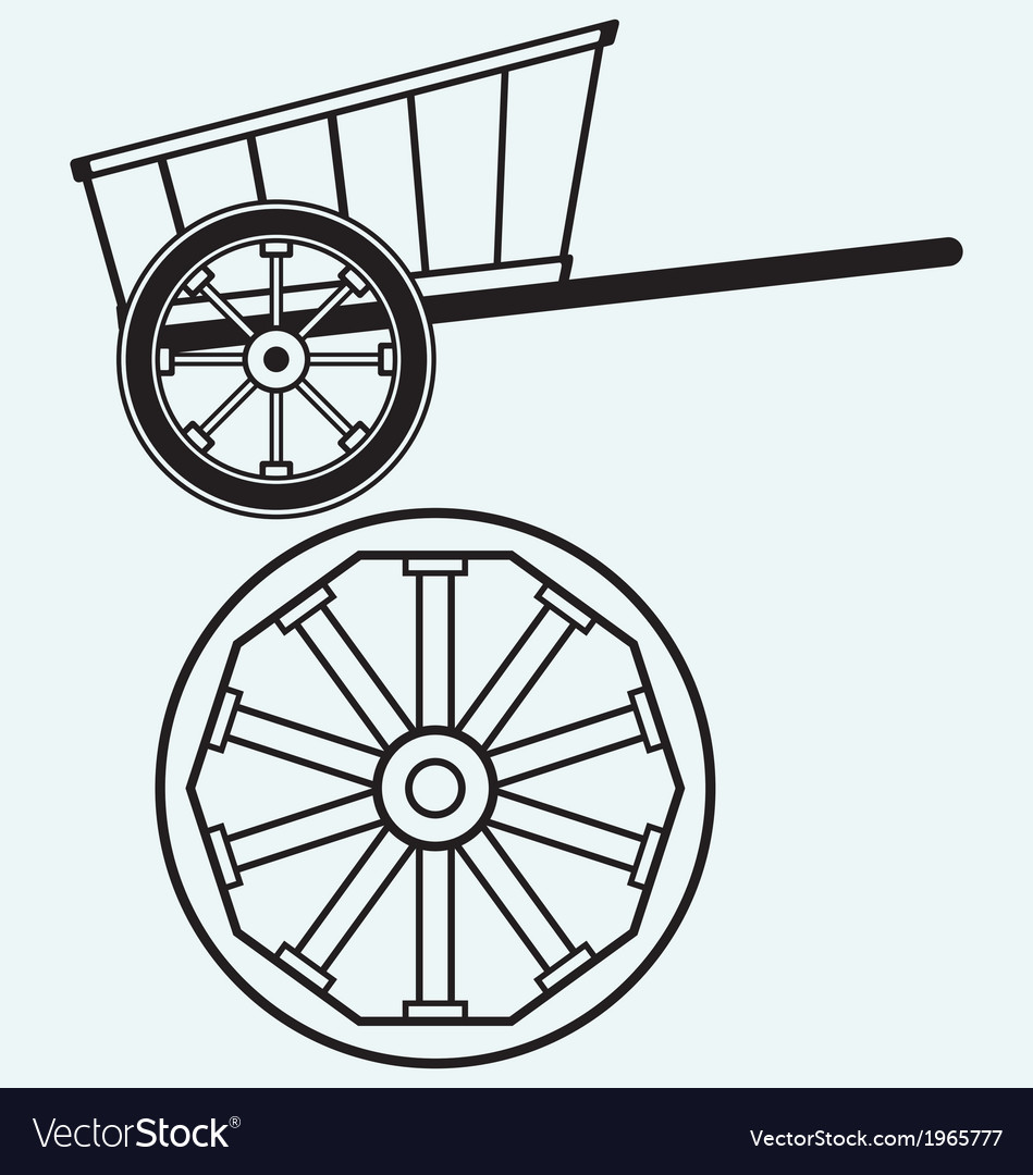 Vintage wagon to transport vector | Price: 1 Credit (USD $1)