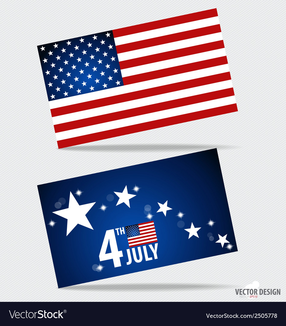 American flag and note papers ready for your vector | Price: 1 Credit (USD $1)