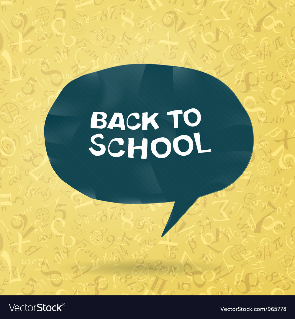 Back to school figures and formulas background vector | Price: 1 Credit (USD $1)