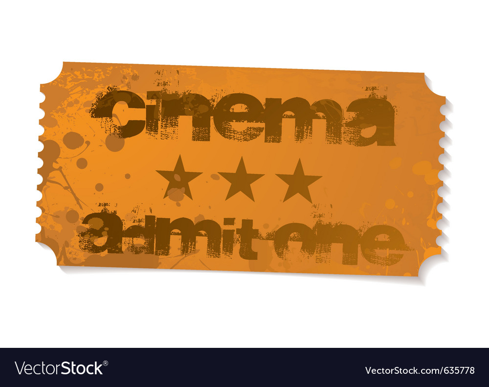 Cinema admit one ticket vector | Price: 1 Credit (USD $1)