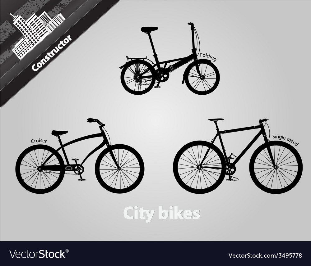 City bikes vector | Price: 1 Credit (USD $1)