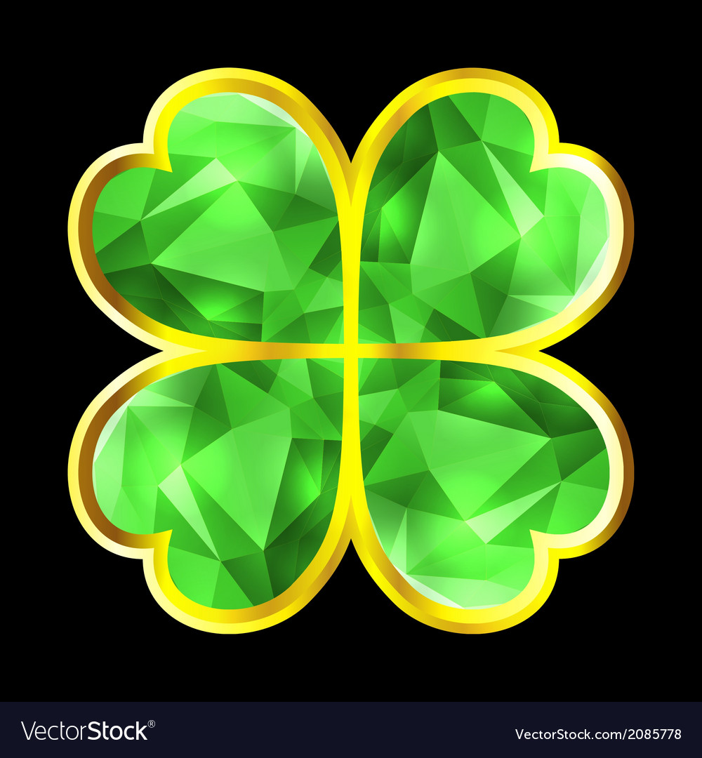 Crystal clover vector | Price: 1 Credit (USD $1)