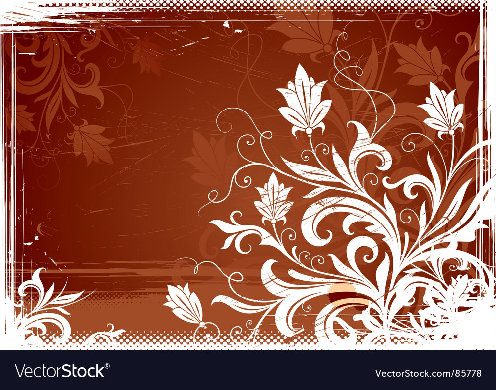 Floral vintage illustration vector | Price: 1 Credit (USD $1)