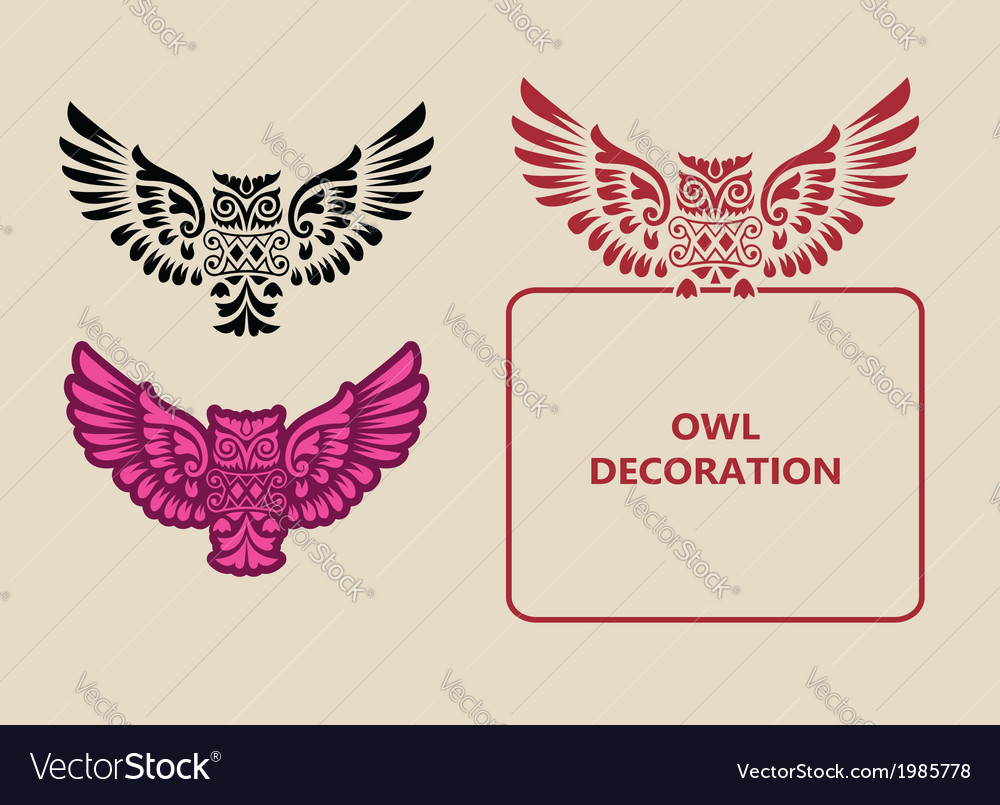 Owl decoration vector | Price: 1 Credit (USD $1)