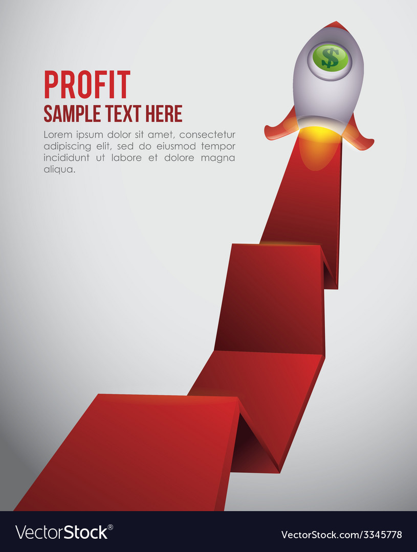 Profit design vector | Price: 1 Credit (USD $1)