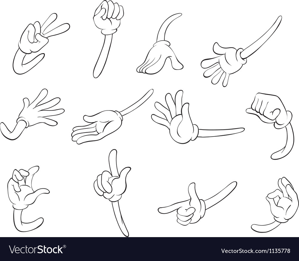 Various hands vector