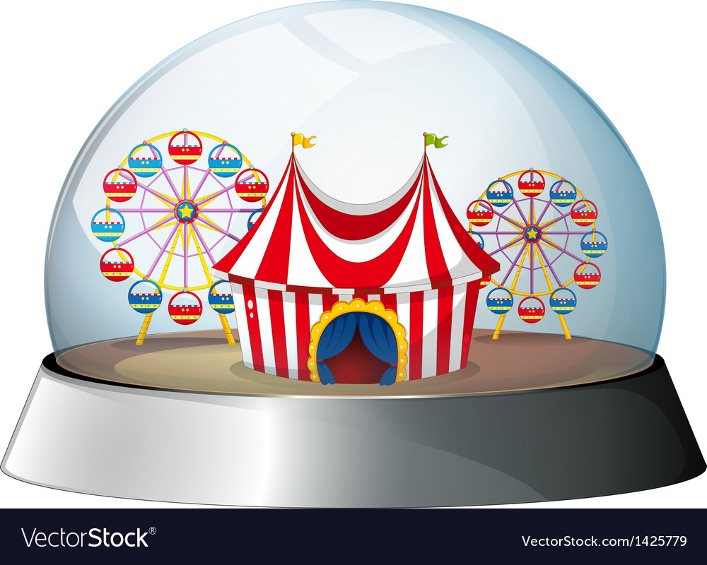 A dome with a carnival inside vector | Price: 1 Credit (USD $1)