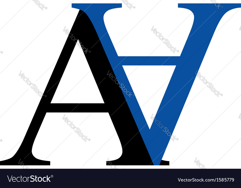 Capital a and n logo vector | Price: 1 Credit (USD $1)