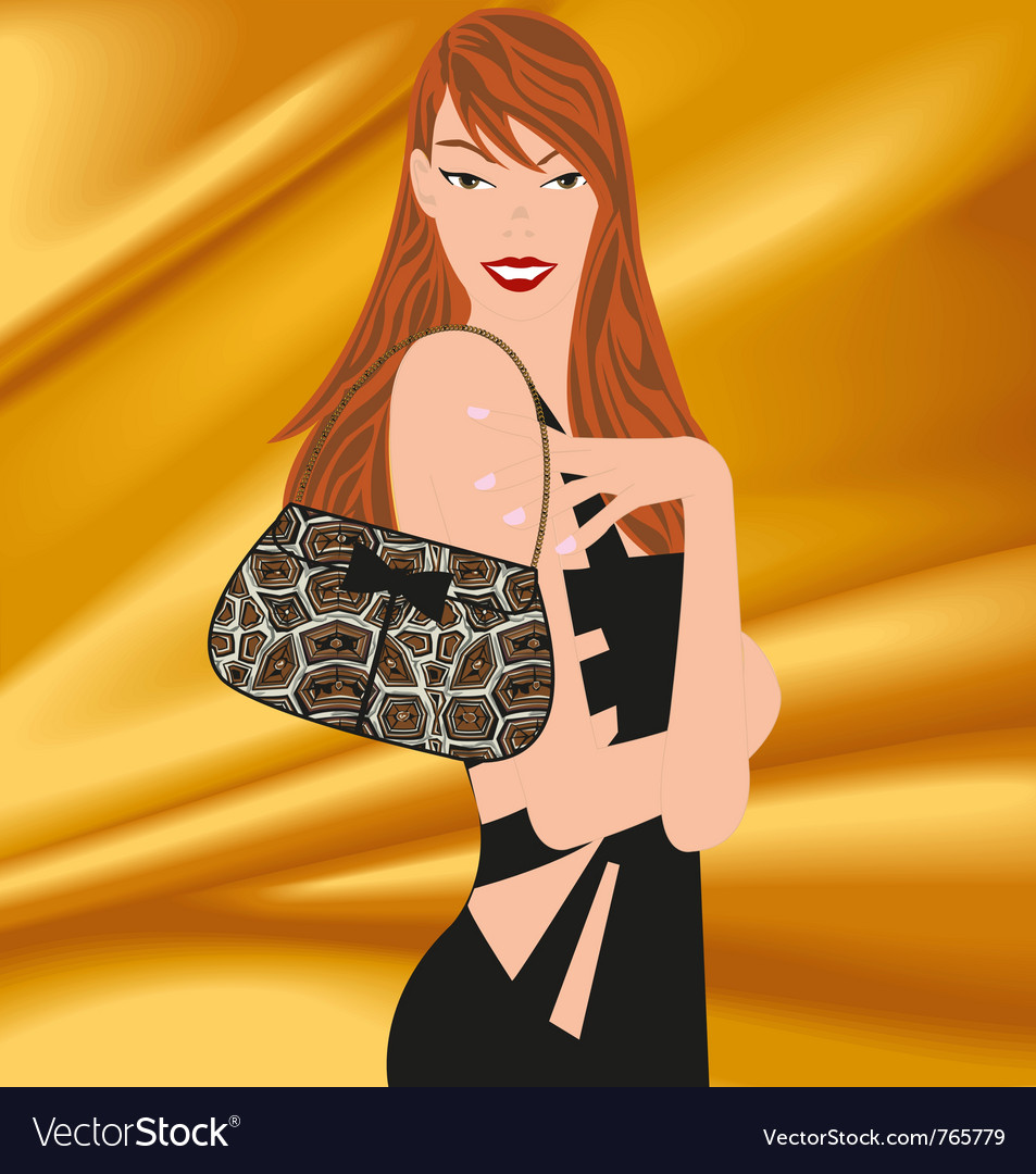 Chic woman vector | Price: 3 Credit (USD $3)