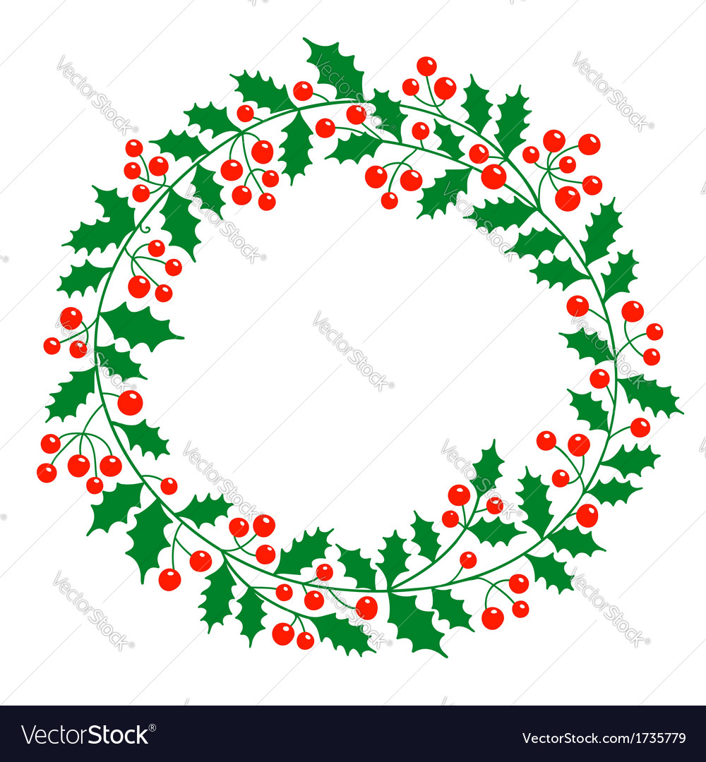 Christmas wreath with place for your text vector | Price: 1 Credit (USD $1)