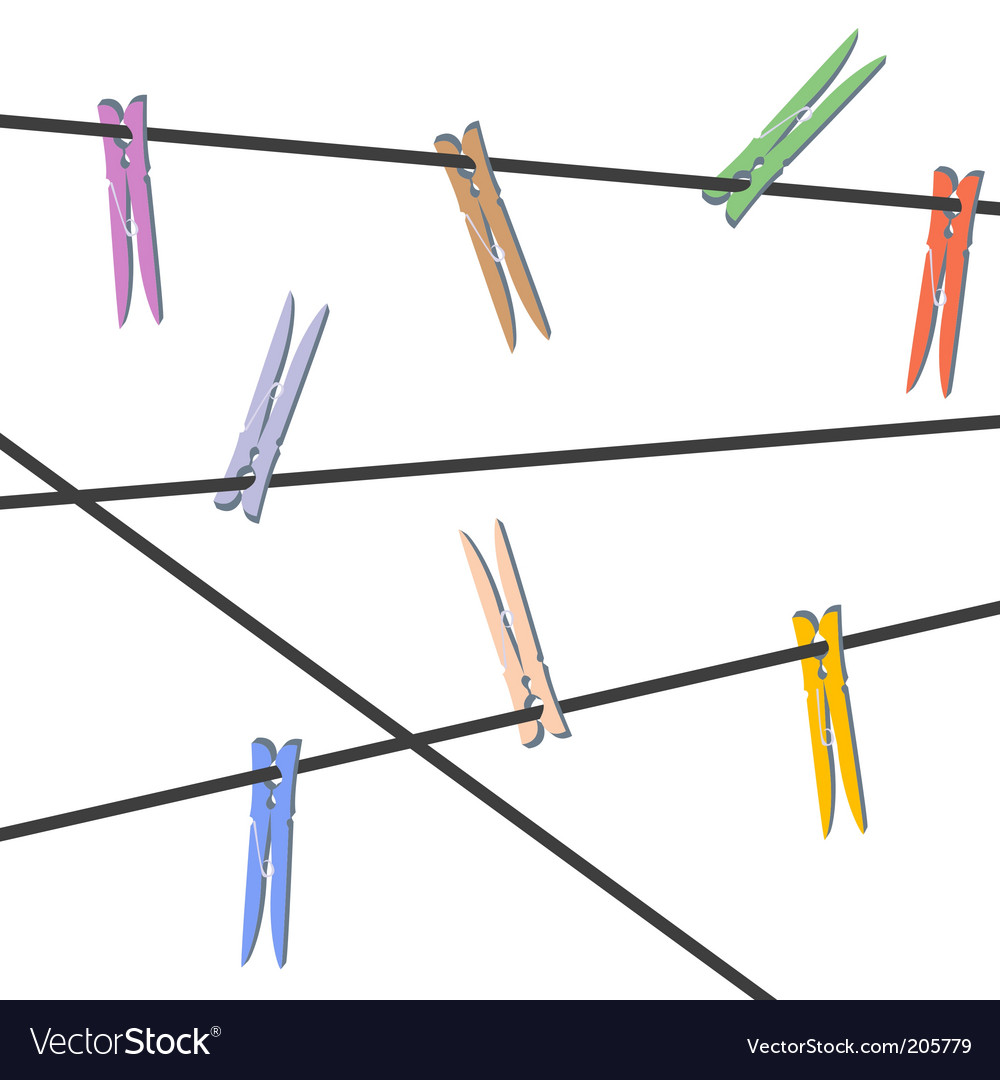 Clothes pegs vector | Price: 1 Credit (USD $1)