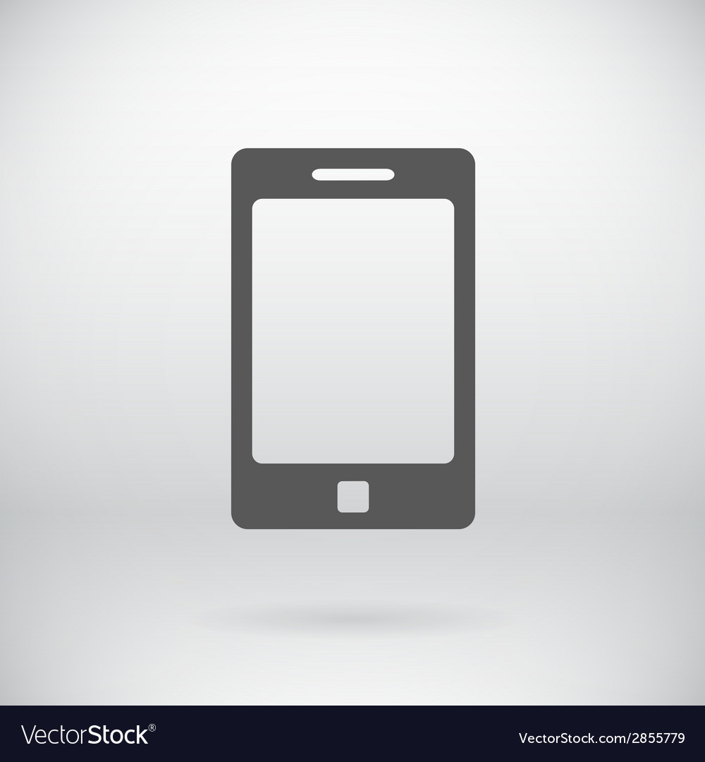 Flat cell phone sign tablet symbol background vector | Price: 1 Credit (USD $1)