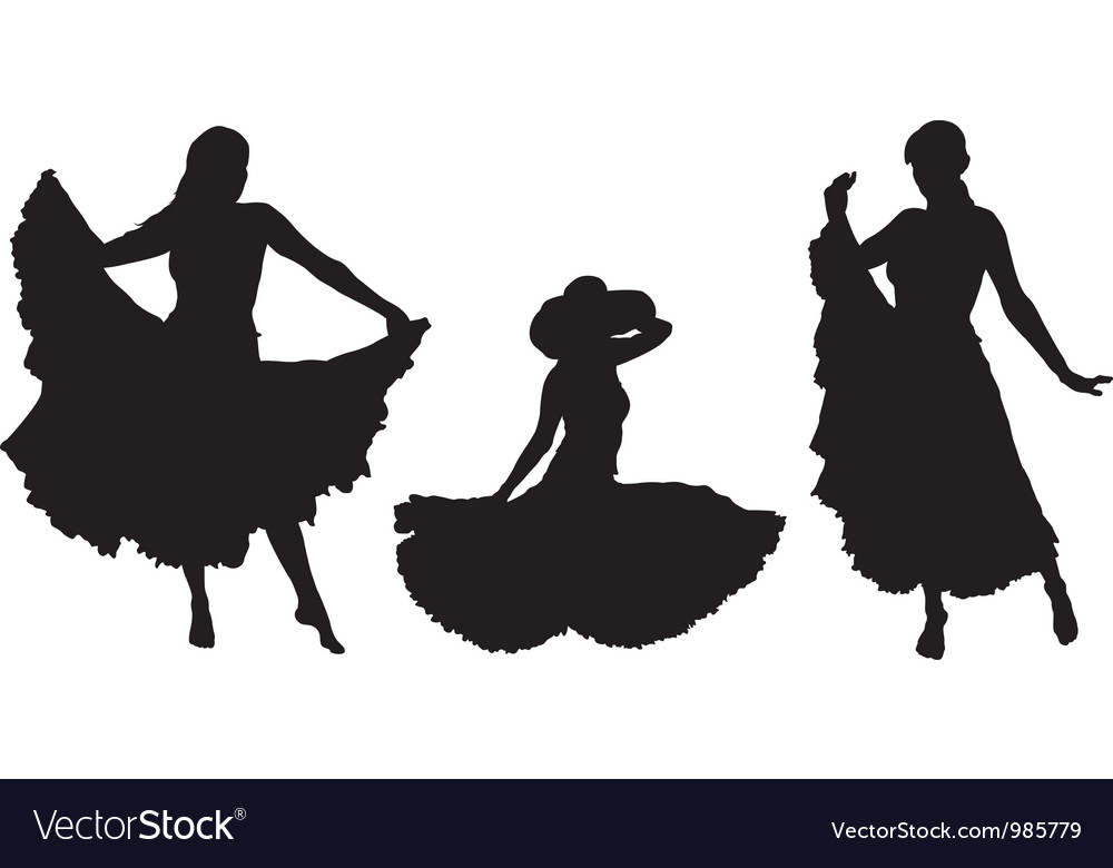 Girl in gipsy skirt vector | Price: 1 Credit (USD $1)