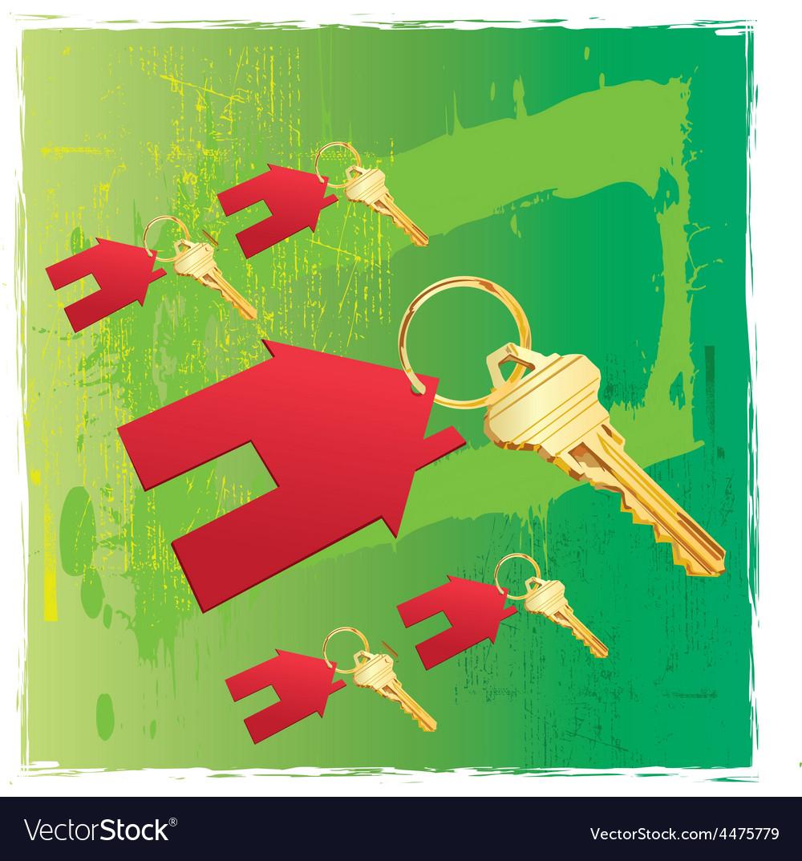 House keys vector | Price: 1 Credit (USD $1)