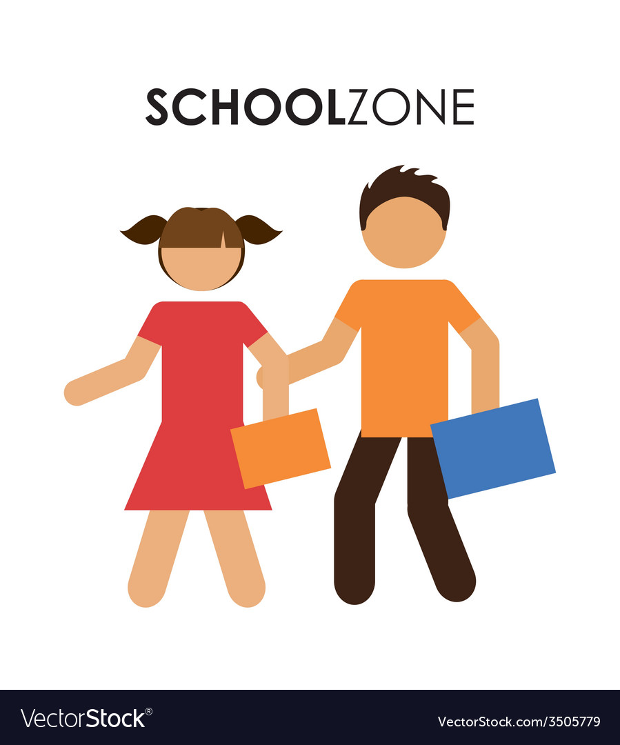 School zone design vector | Price: 1 Credit (USD $1)