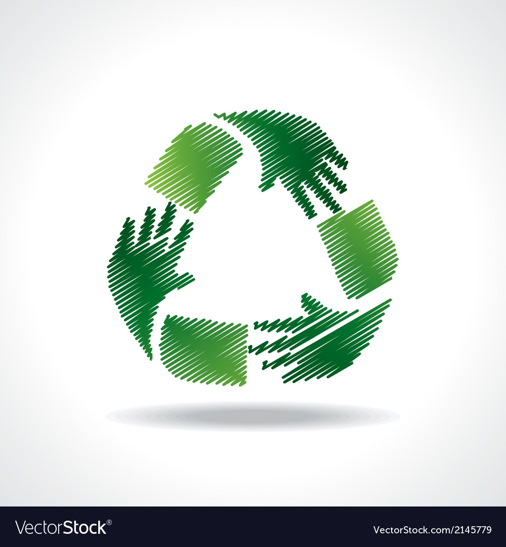 Sketched recycle icon of hand vector | Price: 1 Credit (USD $1)