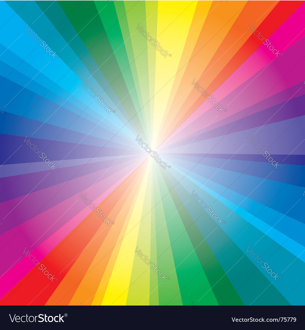 Spectrum rays background vector | Price: 1 Credit (USD $1)