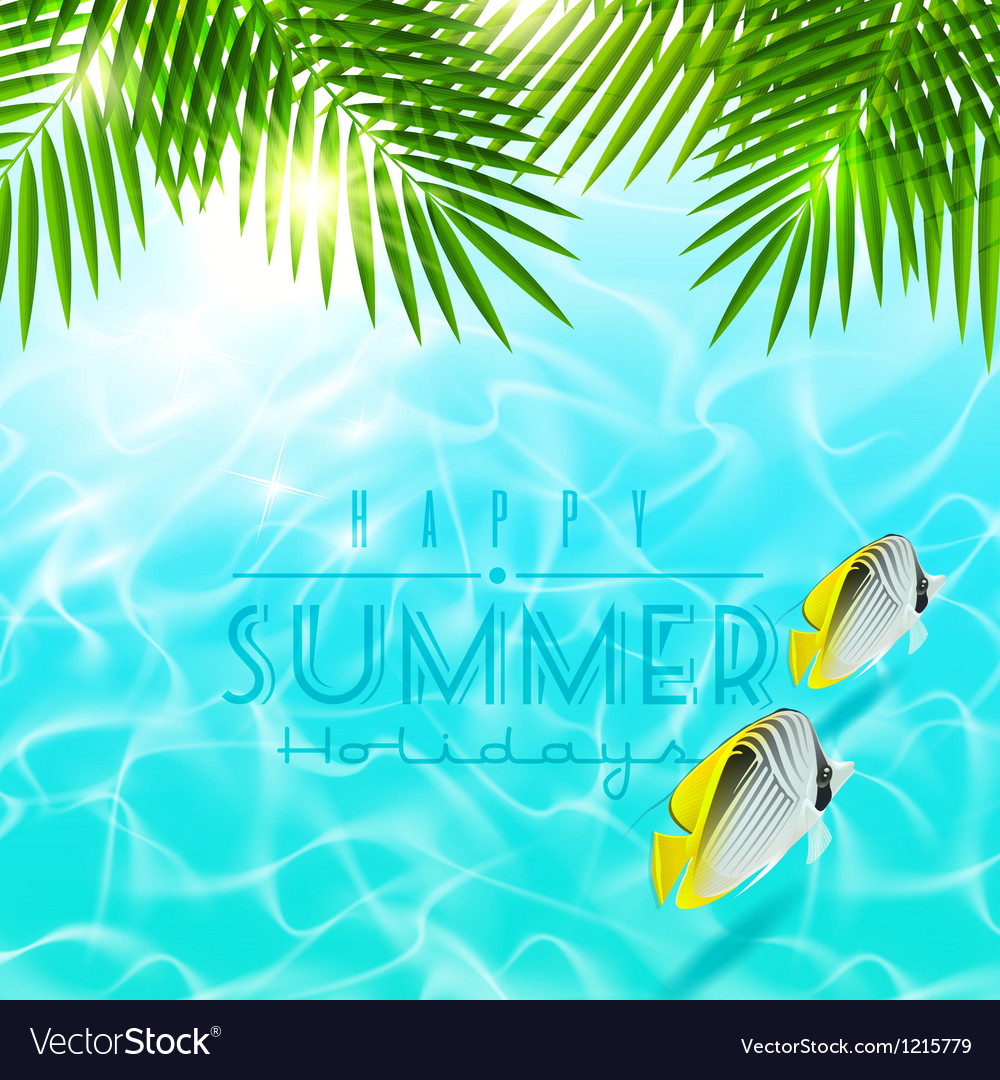 Summer holiday design vector | Price: 1 Credit (USD $1)