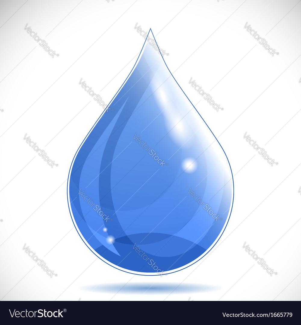 Water drop - vector | Price: 1 Credit (USD $1)