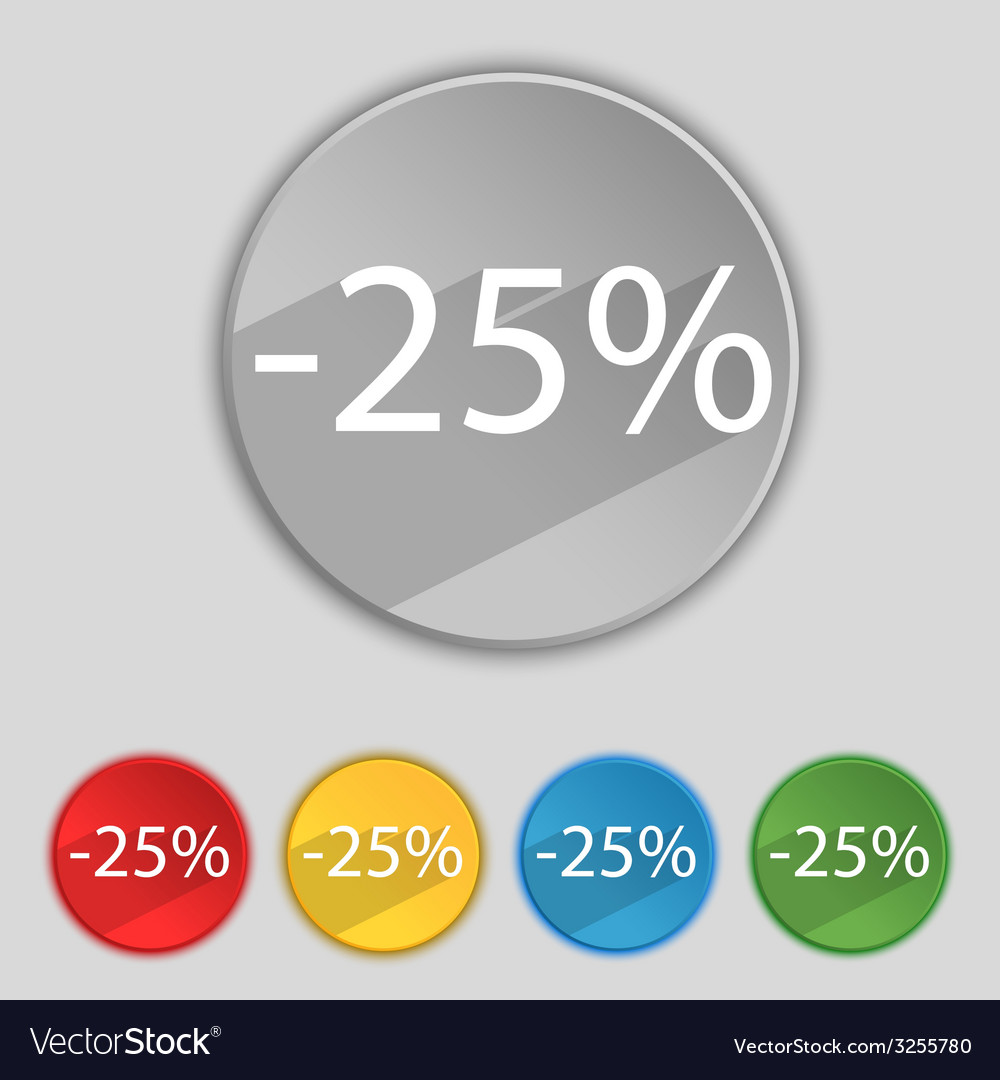 25 percent discount sign icon sale symbol special vector | Price: 1 Credit (USD $1)