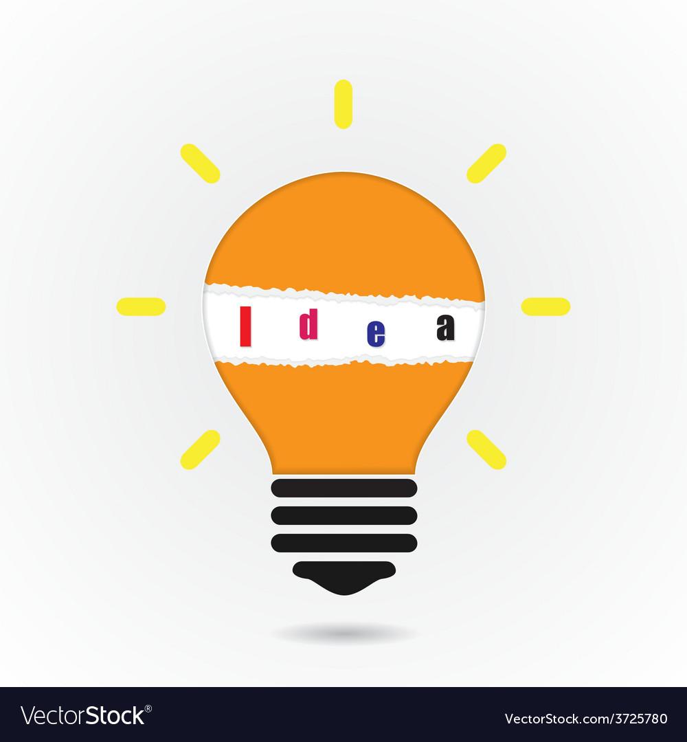 Creative light bulb idea concept background vector   Price: 1 Credit (USD $1)
