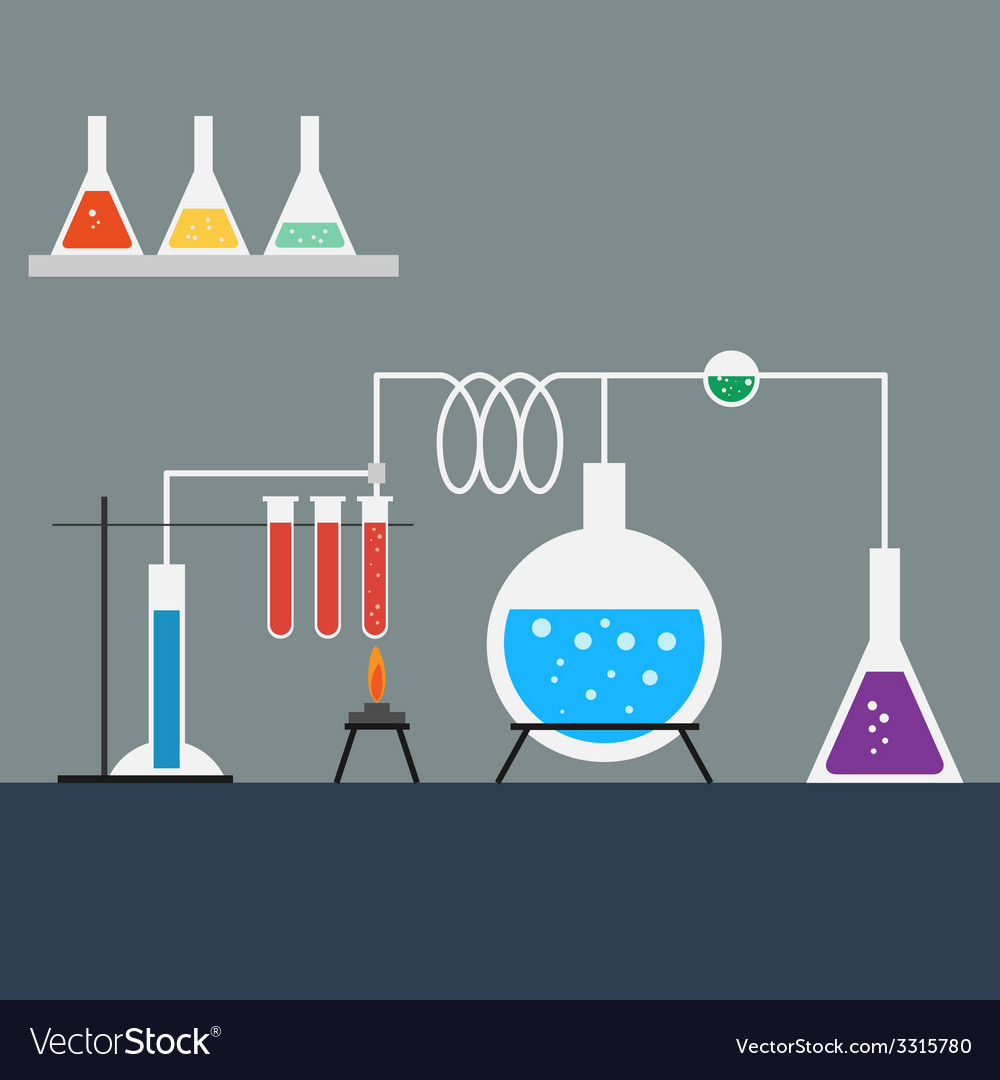 Flat design style of laboratory vector | Price: 1 Credit (USD $1)