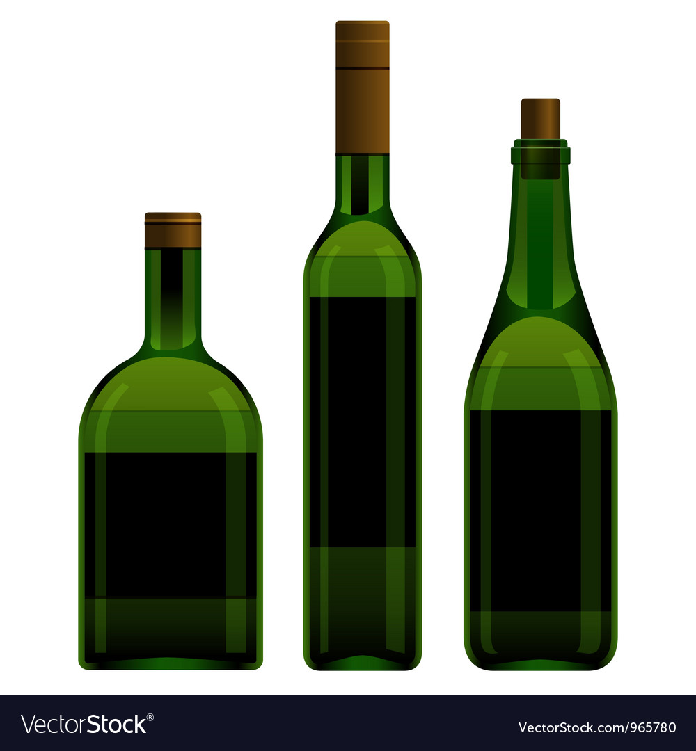 Green bottles different size vector | Price: 1 Credit (USD $1)