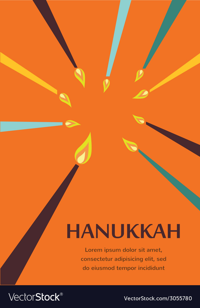 Happy hanukkah greeting card design jewish holiday vector | Price: 1 Credit (USD $1)