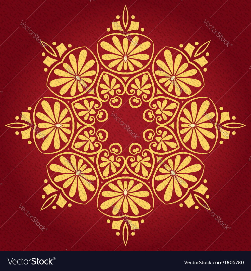 Lace gold ornament vector | Price: 1 Credit (USD $1)