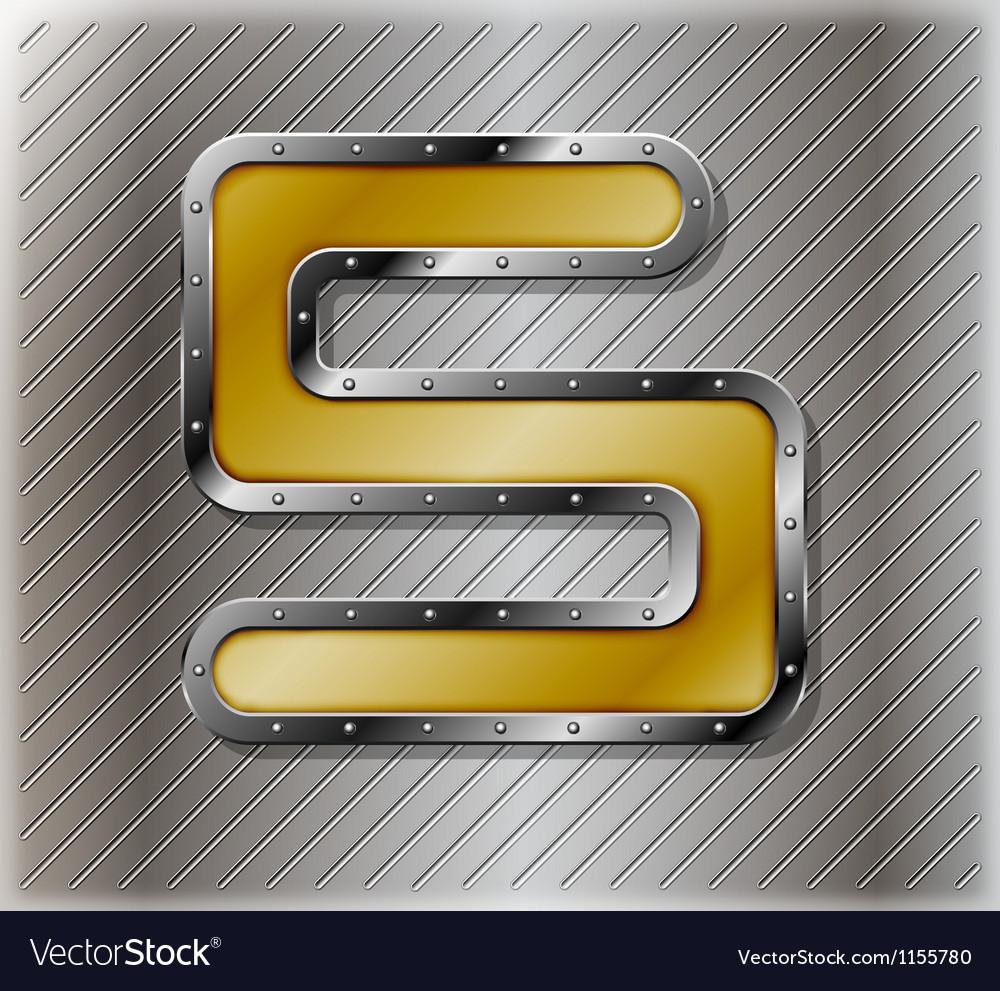 Metallic number five vector | Price: 1 Credit (USD $1)