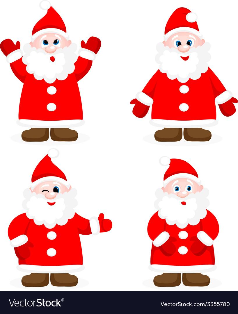 Set with happy santas vector | Price: 1 Credit (USD $1)