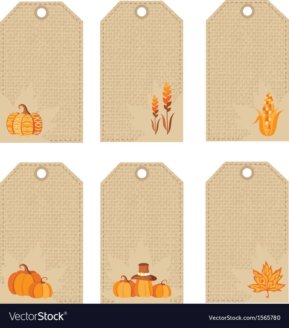Thanksgiving day price tags vector | Price: 1 Credit (USD $1)